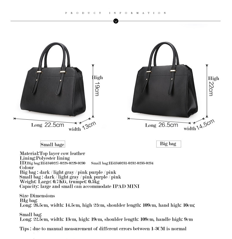 Famous luxury Brands Women Genuine Leather Bag Ladies Tote Embossed leather Boston handbags 2017 Fashion Female Versatile BagH51340227 (5)