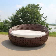 Garden Rattan Daybed Furniture Outdoor Sofa Lounger Set Bed Patio Sun Day with  Cushions