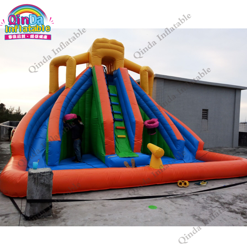 inflatable water slide with pool08
