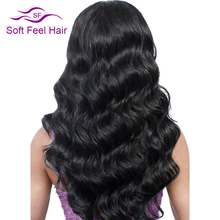 Soft Feel Hair Brazilian Body Wave Hair 1 Piece Human Hair Weave Bundles Non Remy Hair Extensions Natural Color Can Buy More PCS(China)