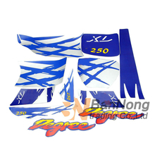 Free shipping Motorcycle Complete Graphic Kit Dirt Bike Sticker Fuel Tank Decal Gas Tank Decals For XL250 XL 250(China)