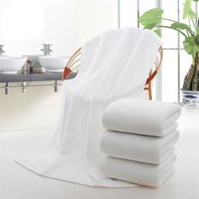 White Bath Towel 100% Cotton Beach Towel for Adults,Kids High Quality Super Water Absorbent Hotel Towel