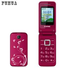 Original FORME C3520 Dual SIM card Flip phone Big Keys Fonts FM old man mobile cell phones can add russian keyboard