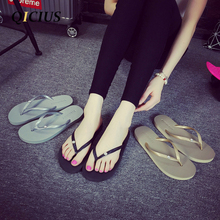 QICIUS Rhinestone Decoration EVA Women Casual Beach Flip Flops Sandals Flat With Slippers Sandals 2017 Summer Shoes Woman B0032
