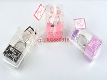 Free Shipping New Arrival Clear Color Heart Shaped Diamond Ring Keychain Wedding favors & gifts,300pcs/lot