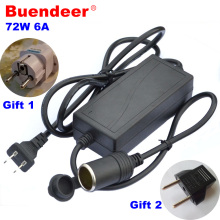 Buendeer 72W 6A car cigarette lighter AC adapter 220V Power supply AC to 12V DC converter home use Lighting Transformer EU plug(China)