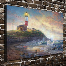 H1007 Thomas Kinkade Light of Hope, HD Canvas Print Home decoration Living Room Wall pictures Art painting(China)