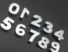 "10MM Smooth Chrome Number Slide Charm 20PCS/lot "" 0--9 Can Choose Each Number "" Fit For DIY Phone Strips & Keychains"