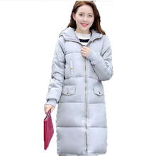 Long Jackets Ladies Winter Coat Plus Size 3XL Cotton Padded Coat Casual Windproof Female Outwear Parkas for Women AE1619