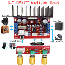 CNIKESIN TDA7377 diy amplifier board 12V Single Power Computer Super bass 3 Channel Sound 2.1 power amplifier board Sutie