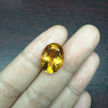 Tbj , natural brazil citrine oval 12*16 mm,10ct up and good color  for silver jewelry mounting