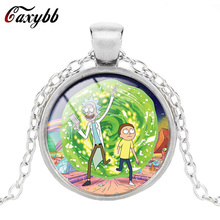 Caxybb brand New Fashion Rick And Morty Jewelry Time Necklace For Women / Men's Jewelry Children Friends Gift Gift Free Shipping