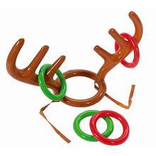 New inflatable Santa antlers throwing ring Antlers ring Props supplies inflatable antlers Christmas activities