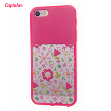 Cuptakes Rose Flowers Soft Silicone TPU Case for iPhone 7 Cover Rubber 5 SE 6S 7 Plus Phone Cases Coque film Brand Housing Plug