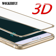 3D Aluminum alloy  case For iphone 6 cases 6S 7 Plus 5 5S SE Full screen Protector cover for iPhone 7 case Tempered Glass Film