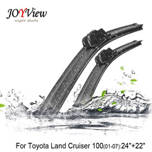 "U-hook Size:24""+21""Fit For Toyota Land Cruiser 100(2001-2007)High Quality Windscreen Wipers Wiper stand Essuie glace(China)"
