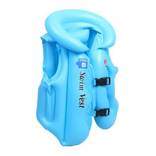 Kids safety swimming life jacket for kids Baby Swimwear Suit PVC Inflation Inflatable Vest Buoyancy float Piscine 3 Sizes 1-12 Y(China)