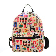 Fashion harajuku style print rucksack women Canvas school Bag shopping Backpack women hot sale mochilas mujer 2016 sac a dos #39