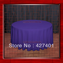"Hot Sale  132"" R Purple Round Table Cloth Polyester Plain Table Cover for Wedding Events &Party Decoration(Supplier)"