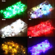 25Pcs Coloured  LED Balloon Lights Lamp for Paper Lantern LED Balloon Lamps for Wedding Christmas Party Decoration
