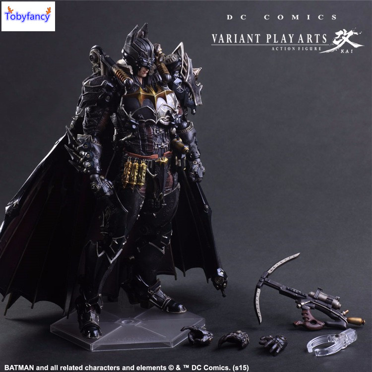 Tobyfancy Batman Action Figures Play Arts Kai Steampunk PVC Toys 270mm Anime Movie Model Steampunk Bat Man Playarts Kai<br>