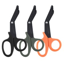 Quality Pocket Size Tactical Scissor Bandage Paramedic Shears Survival Rescue Tool-orange Drop Shipping(China)