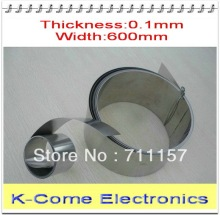 0.1mm Thickness 600mm Width 5M/lot Stainless Steel Sheet Plate Leaf Spring Stainless Steel Foil The Thin Tape