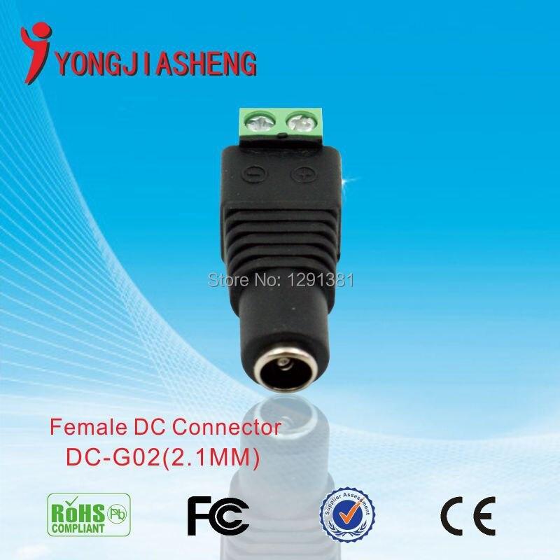 Super durable 100pcs DC Power Female   Male Jack Connector Plug<br><br>Aliexpress