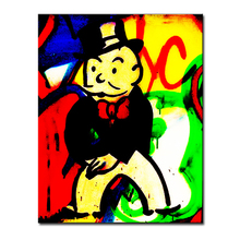 2016 stand Alec monopoly canvas wall art Graffiti mr brainwashart print canvas for wall art decoration oil painting wall art