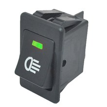 1pc 12V 35A Green Color Fog Light Lamp Rocker Switch LED For Car Truck Boat Dash Dashboard  VEQ20 P30