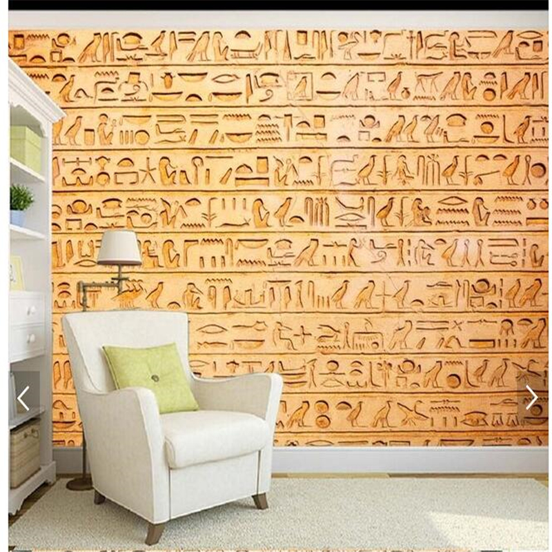 Fashion Egypt mural reliefs of animals and birds living room TV backdrop<br><br>Aliexpress