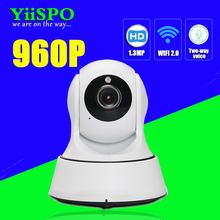 YiiSPO HD 720P/960P WIFI IP Camera Wireless IR-Cut Night Vision Two Way Audio PTZ CCTV Surveillance Camera P2P Cloud