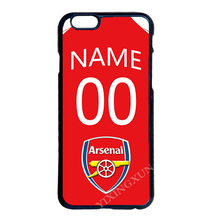 Arsenal Custom Name Number Case for LG iPhone 4 4S 5 5S SE 5C 6 6S 7 Plus Samsung Note 3 4 5 S3 S4 S5 Mini S6 S7 S8 Edge Plus