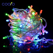 110v/220V Led String Christmas Lights 10m/100leds With 8 Modes Christmas decorations for Home / Holiday / Party / Wedding(China)