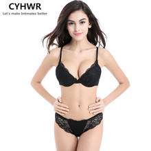 Buy Fashion Sexy Lace Bra Set Push Lingerie Women Underwear Sets Intimates Embroidery Floral Mesh Patchwork Black Red Blue Beige