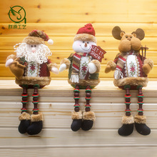 32*13cm Christmas ornament Santa Claus Snowman Elk Deer Color legs happy gift for children kids holidy  tree decor F