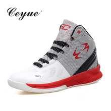 Men Basketball Shoes High Top Red Sneakers Basket Microfiber Leather Zapatillas Deportivas Hombre Men Breathable Athletics