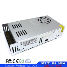 DC Power Supply 12V 50A 600w Led Driver Transformer AC110V 220V to12v dc Power Adapter for strip lamp CNC CCTV