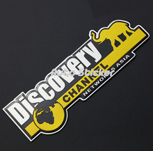 Car Styling DISCOVERY CHANNEL Emblem Badge Sticker DISCOVERY Vehicle Truck Car Body Side Accessories Sticker(China)