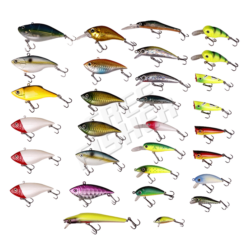 Free Fisher 30pcs/lot  Fishing Lures Crankbait Hard Baits Wobbler Crank Bait Artifical Peche Fishing Tackle<br>