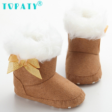 Brand New Infant sapatosTop quality Prewalkers Winter Warmer Zapatos Bebe shoes Baby Booties boys Newborn Birthday Gift Boots(China)