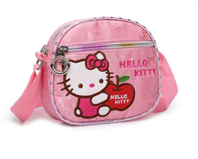 2017 Ladies Hello Kitty Cartoon  Embroidery Handbags Messenger Bags Nylon Material Cute Bags for Girls
