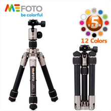 MeFOTO A0320Q00 Professional Colorful Tripod Kit Portable Aluminum Tripod With Ball Head 24cm Reflexed Height Digital SLR Tripod