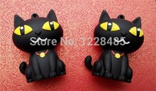 Usb Stick USB Flash Disk  lovely cartoon black cat usb flash drive 2gb 4gb 8gb 16gb 32gb 64gb menory stick  S32pendrive