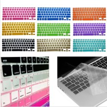 "10 Colors can choose Silicone Keyboard Skin membrane For Macbook Air Pro Retina 11 13 15 17"" Random Color 1pcs/lot free shipping"
