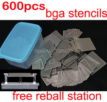New arrival heated directly 600pcs/set BGA stencils with free reball station BGA reballing stencils kit(China)