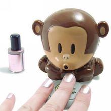 Cute Monkey Hand Nail Art Tips Quick Blow Polish Dryer Blower For Nail Polish Blower Manicure Care