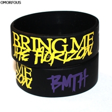 "BMTH BRING ME THE HORIZON Silicone 1"" Wide Wristband Bracelet For Gift(China)"