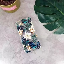 2017 Fashion Plants Coffee Flower Green Leaves Case For iphone 7 Case Soft Clear Back Cover For iphone 6 6S 7/Plus Phone Cases C
