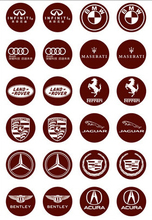 Famous Cars Brand Name Cheap Decoration Transfer Chocolate Candy Cake Frosting Sheet Wholesale Mold Discount